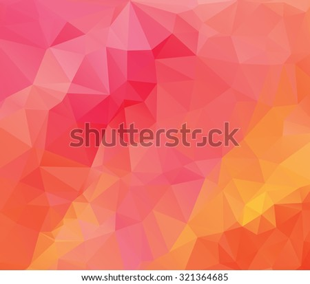 Pink Polygonal Mosaic Background. Vector illustration, Creative Business Design Templates - stock vector