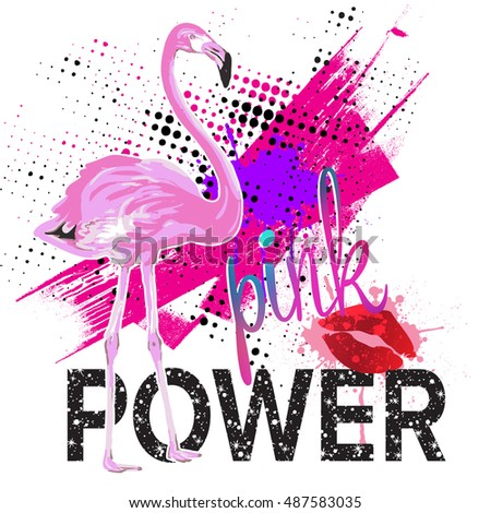 Be Cool Typography Graphic Print Pink Stock Vector 516715702 ...