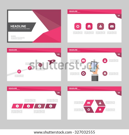 Pink purple Multipurpose Infographic elements and icon presentation template flat design set for advertising marketing brochure flyer leaflet - stock vector