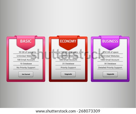 pink,red and purple web list - stock vector