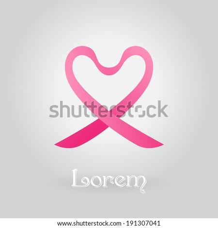 Pink Ribbons Symbols Breast Cancer Awareness Stock Vector 191307041