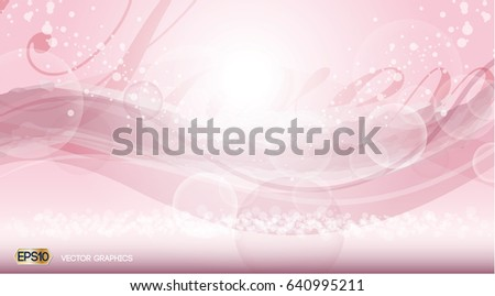 Pink rose quartz Glamorous fragrance sparkling effects background. Vector illustration