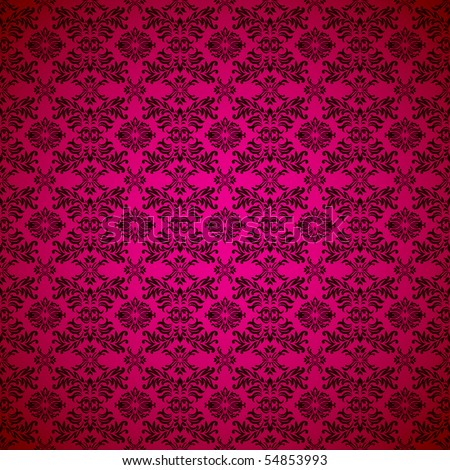 Pink seamless wallpaper abstract design background - stock vector