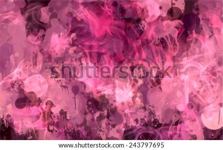 Pink smoke vector background - stock vector
