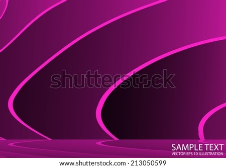 Pink space vector abstract background illustration - Lined vector shiny pink striped template - stock vector