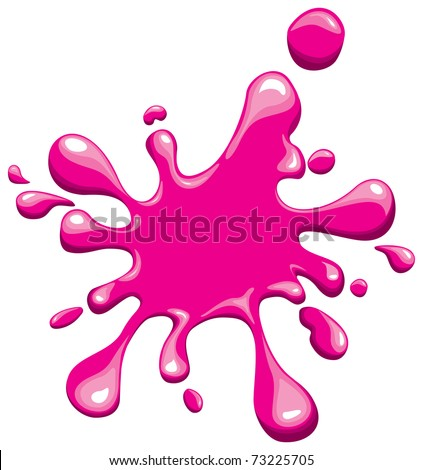 pink splash - stock vector