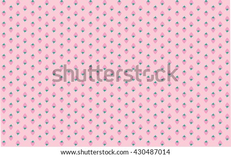 Pink Strawberry Textile PatternVector Illustration Wallpaper