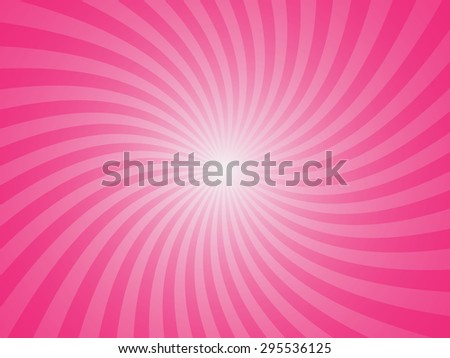 Pink summer spiral ray pattern background - stock vector