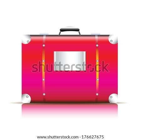 pink travel bag vector - stock vector