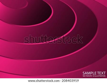 Pink vector abstract background circular illustration - Circular vector shiny pink stripes template - stock vector