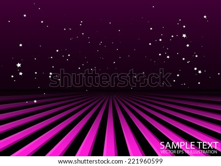 Pink vector burst in space background illustration - Vector pink rays spreading illustration - stock vector