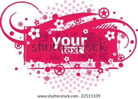 pink vector floral background so you can add your own images - stock vector