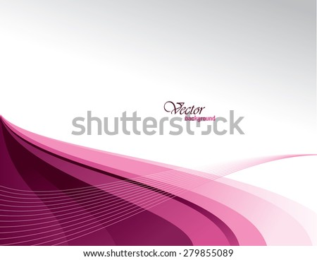 Pink Vector Modern Wavy Background. Eps10. - stock vector