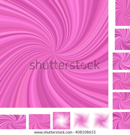 Pink vector spiral design background set. Different color,  paper size versions. - stock vector