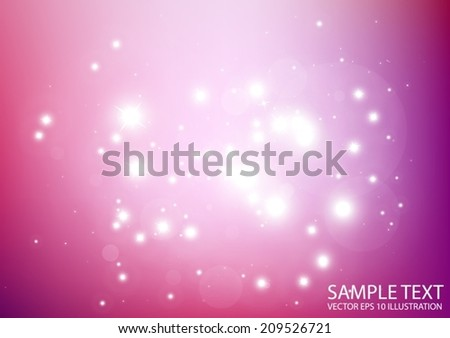 Pink vector star field background illustration - Vector abstract shiny pink star template background - stock vector