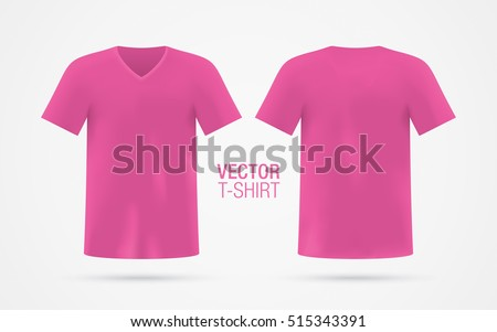 Pink shirt stock images royalty free images vectors for Pink t shirt template