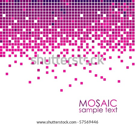 Pink violet mosaic Vector - stock vector