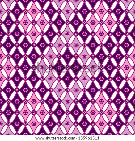 Pink-violet seamless pattern with rhombus (vector)