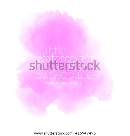 pink watercolor background - stock vector