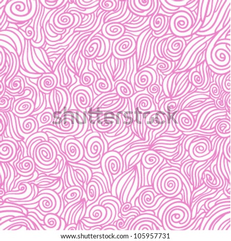 pink waves seamless pattern - stock vector