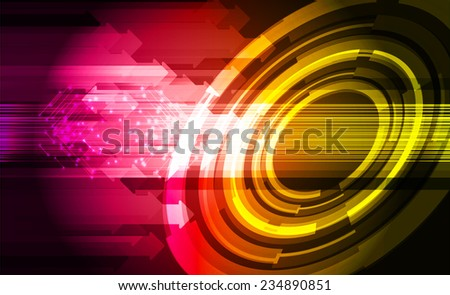 pink yellow Light Abstract Technology background for computer graphic website and internet.