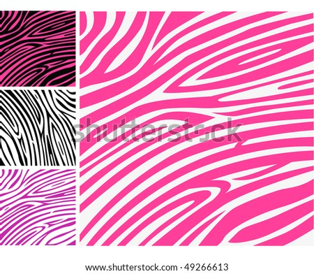 Pink zebra skin animal print pattern. Pink zebra background pattern - perfect texture for your unique design! - stock vector