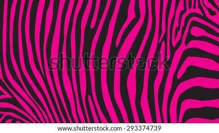 Pink zebra stripes pattern, illustration - stock vector