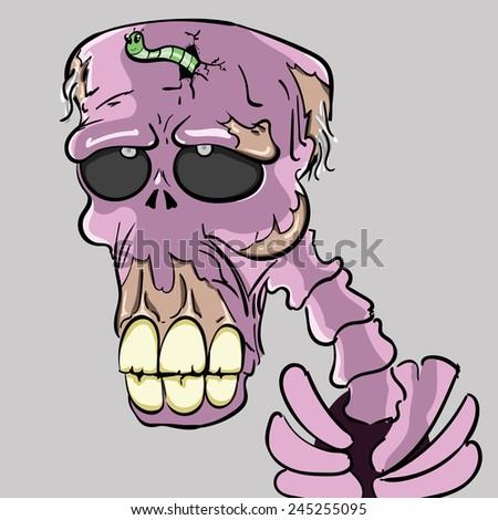 pink zombie, walking dead - stock vector