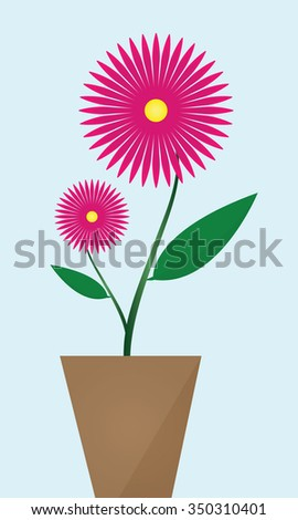 Pinkish purple flower,vector illustration