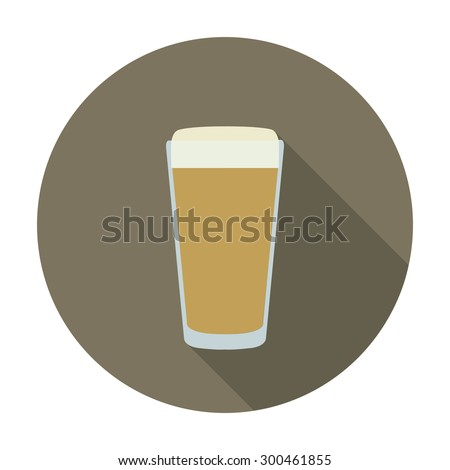 pint of beer flat icon. vector illustration - stock vector