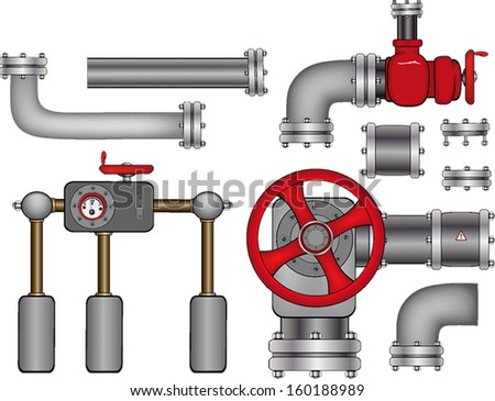 Pipes - stock vector