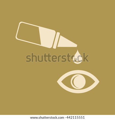 Pipette and eye Icon - stock vector