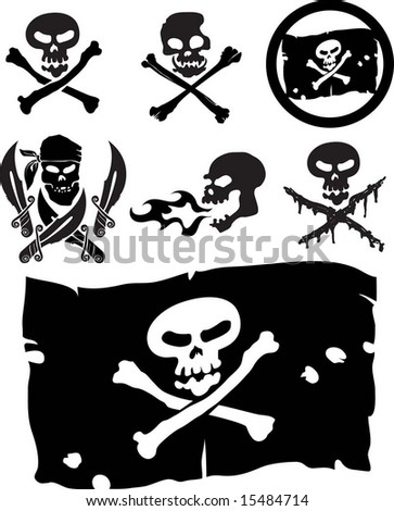 piracy signs - stock vector