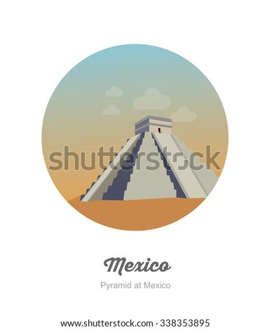 Piramid in mexico - stock vector