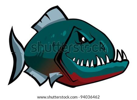 piranha - stock vector