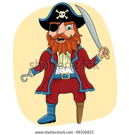 Pirate - stock vector