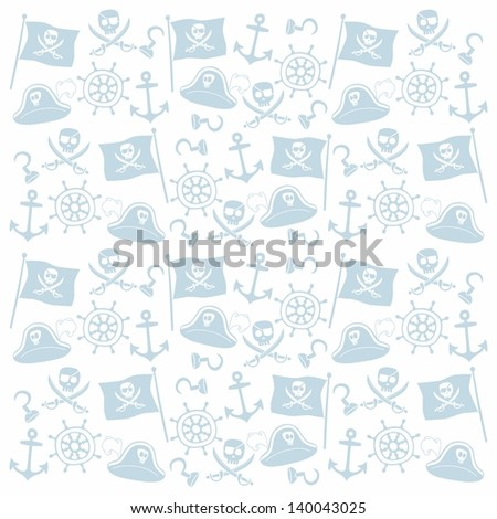 pirate blue repeatable pattern