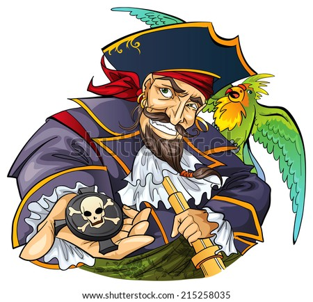 Pirate character - stock vector
