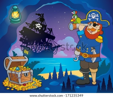 Pirate cove theme image 3 - eps10 vector illustration. - stock vector