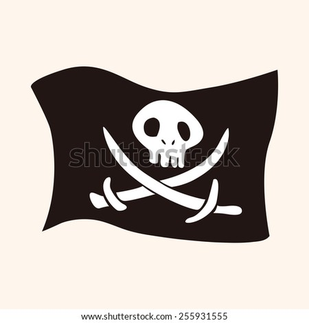 Pirate flags theme elements