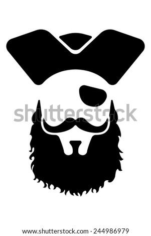 Pirate mascot head. Great for any school or sport based design. - stock vector