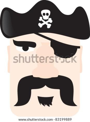 PIRATE mustache - stock vector