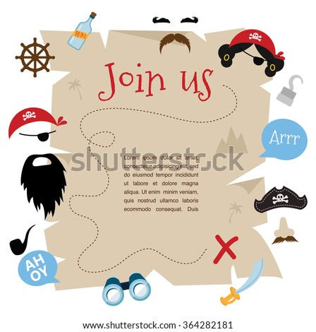 Pirate Party Images RoyaltyFree Images Vectors – Pirate Party Invitation