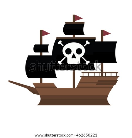 pirate ship vector stock vector royalty free 462650221 shutterstock rh shutterstock com pirate ship vector art pirate ship vector free