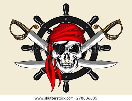 Pirates Logo Skull Skull And Bones Stock ...