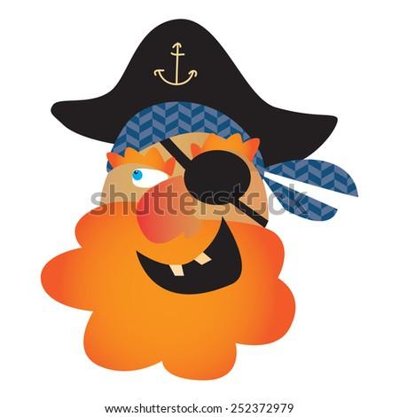 pirate skull vector illustration - stock vector