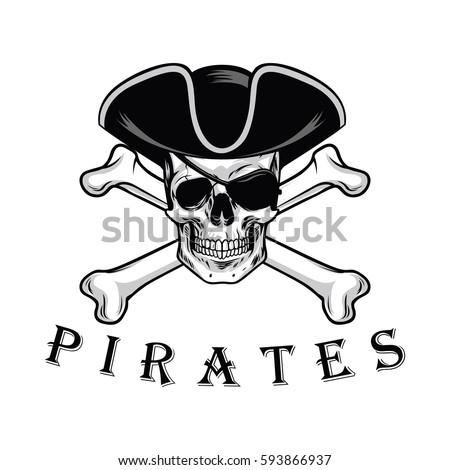 Pirates Logo Skull Pirate Skull Cr...