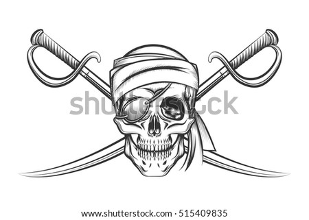 Pirate sword stock images royalty free images vectors for Crossed swords tattoo