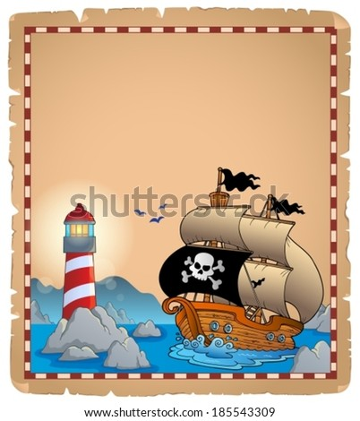 Pirate theme parchment 3 - eps10 vector illustration. - stock vector