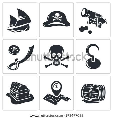 Pirates Icon set  - stock vector